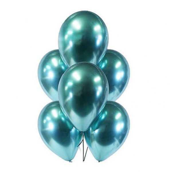Гелиевый шарик зелёный хром