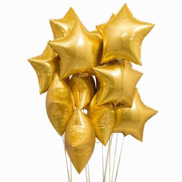 Гелиевые шары золотая звезда