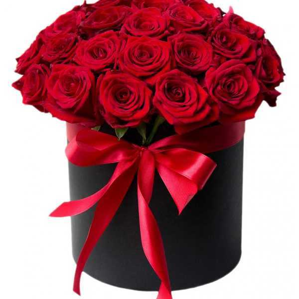 Композиция из 25 роз в цилиндре