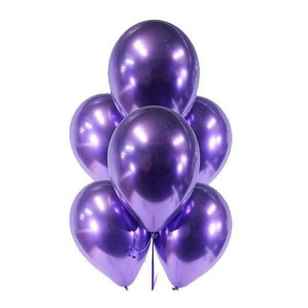 гелиевые шары фиолетовый хром