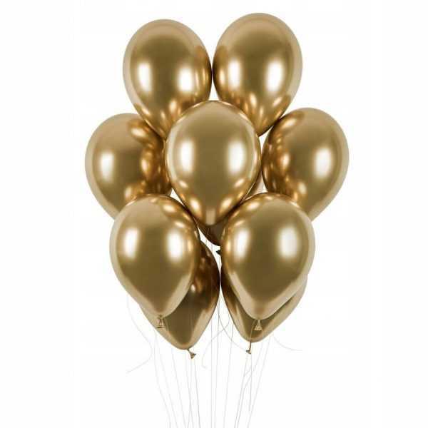 Гелиевые шары золотой хром