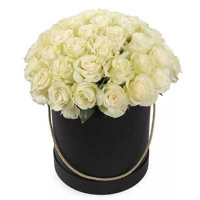 Композиция из 35 роз в цилиндре