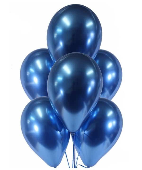 Гелиевый шарик синий хром
