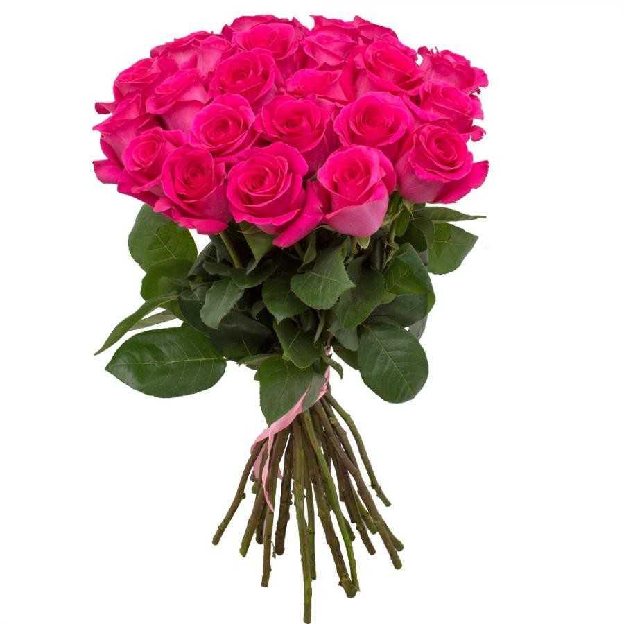 Букет из 25 премиальных розовых роз