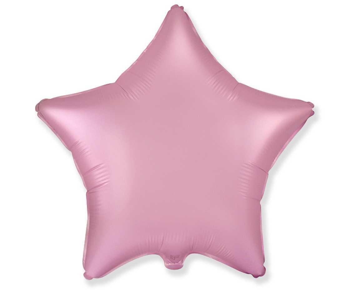 Гелиевые шары пудровая звезда (поштучно)