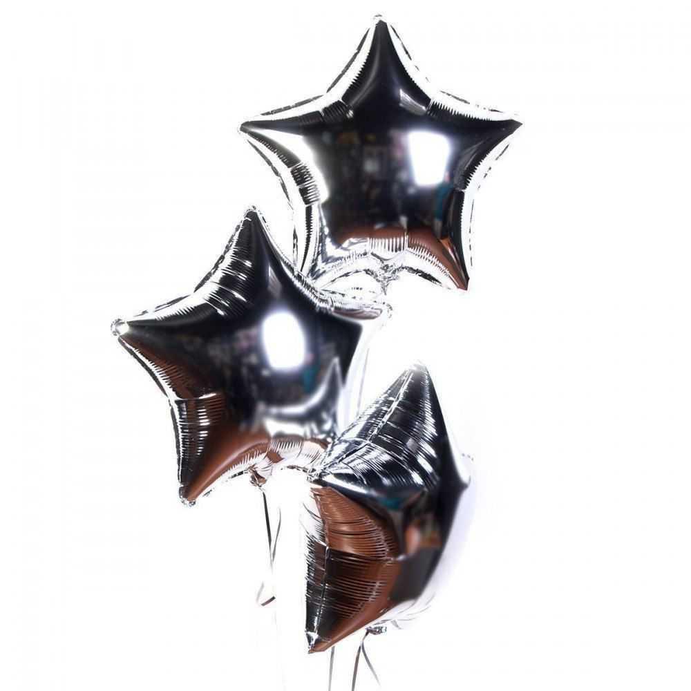 Гелиевый шарик серебряная звезда